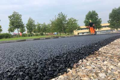 Permeabel-asfalt-Trekroner-Forskerpark-Colas