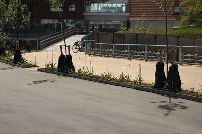 400×267-Viborg-bibliotek-Colas-udlægger-hvid-og-sort-asfalt